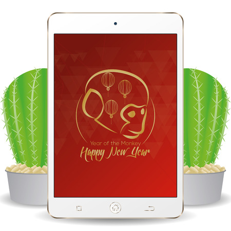 screensaver: Isolated cellphone with a chinese new year screensaver