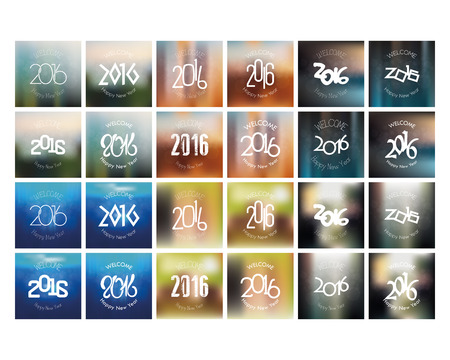 colored backgrounds: Set of colored backgrounds with text for new year celebrations