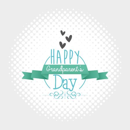 Strukturierter Hintergrund mit Text und Symbole für Großeltern Tag