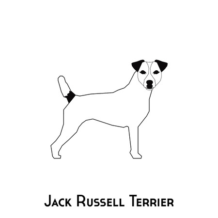 russell: Isolated silhouette of a Jack Russell Terrier on a white background Illustration
