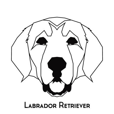 labrador: Isolated silhouette of a Labrador Retriever on a white background
