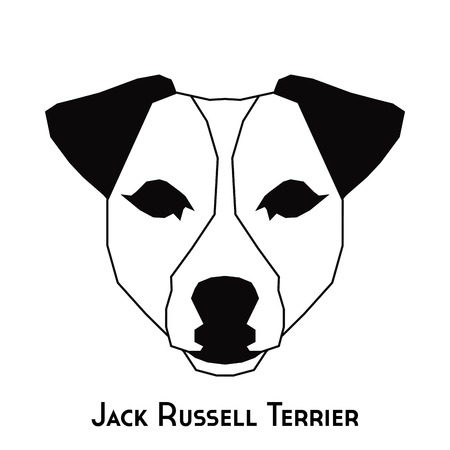 jack russell: Isolated silhouette of a Jack Russell Terrier on a white background Illustration