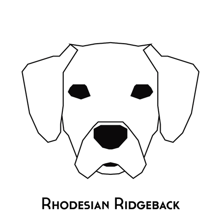 ridgeback: Isolated silhouette of a Rhodesian Ridgeback on a white background Illustration