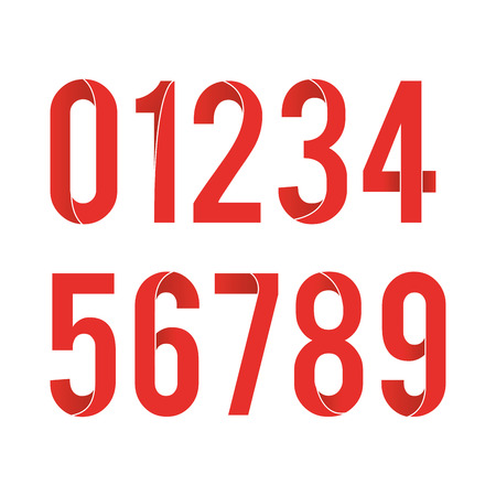 5.0: Typographical set of numbers, Vector illustration