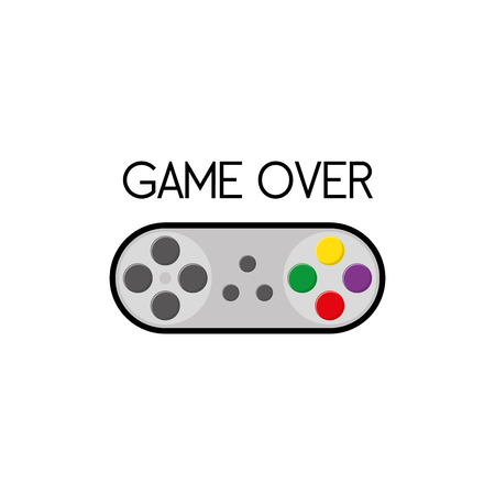 portable console: Isolated joystick on a white background, Vector illustration Illustration