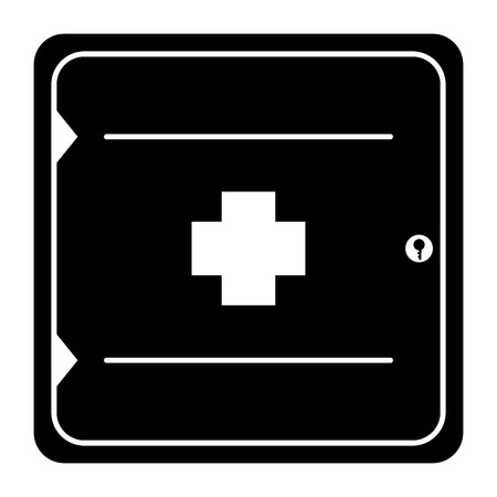 Icon of a first aid kit, vector illustration