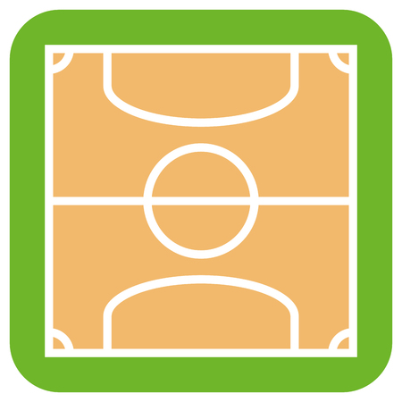 soccer field: Isolated soccer field on a white background, Vector illustration