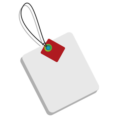 Isolated label on a white background, Vector Illustration