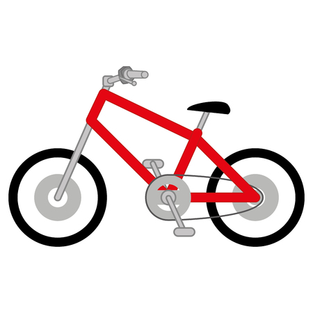 Isolated bicycle on a white background, vector illustration Illustration