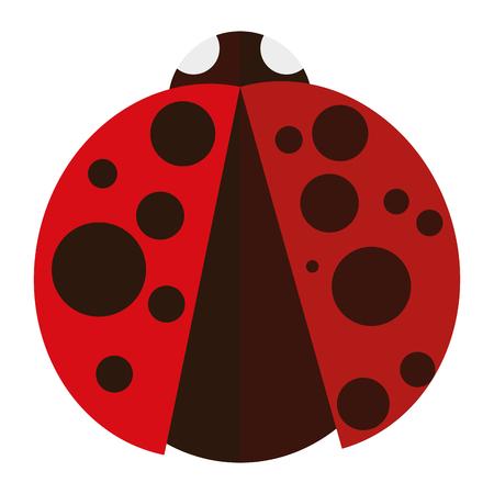 Isolated ladybug on a white background, vector illustration Illustration