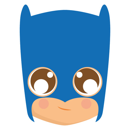 Isolated avatar of batman on a white background, vector illustration