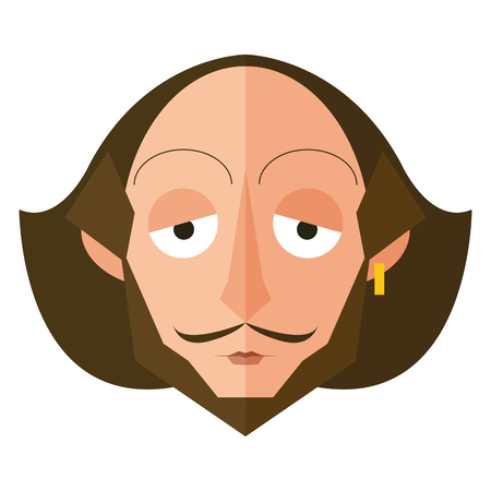 Isolated Shakespeare character on a white background, Vector illustration