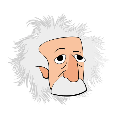 Isolated Einstein character on a white background, Vector illustration Illustration