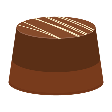 Isolated chocolate candy on a white backdrop illustration.