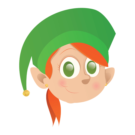Isolated elf avatar on a white background, vector illustration Illustration