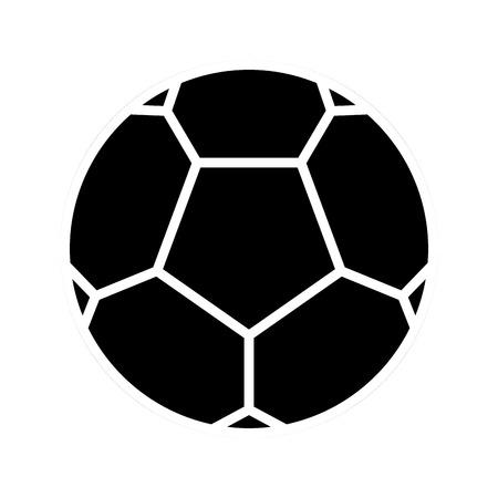 Soccer ball silhouette on a white backdrop, design.