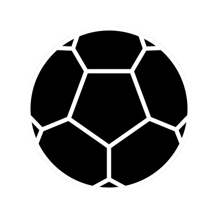 Soccer ball silhouette on a white backdrop, design.