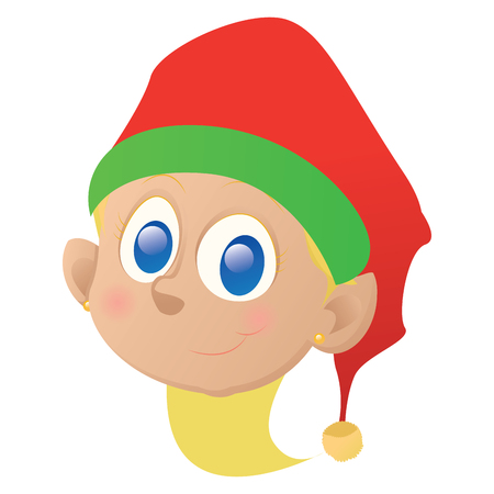 Isolated elf avatar on a white background, vector illustration Vettoriali