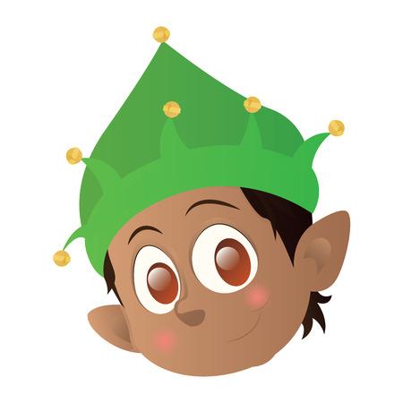 Isolated elf avatar on a white background, vector illustration Ilustração