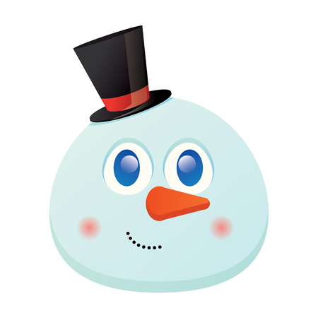Isolated happy snowman avatar on a white background, vector illustration Ilustração