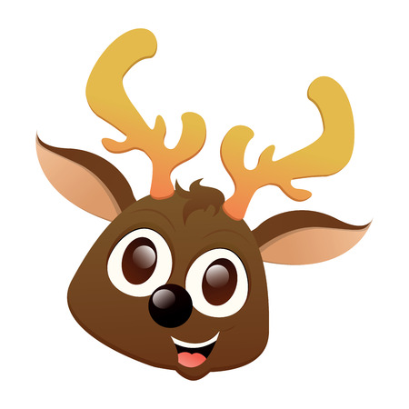 Isolated beautiful reindeer avatar on a white background, vector illustration Illustration