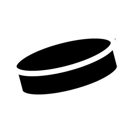 Isolated hockey disk silhouette on a white background, vector illustration