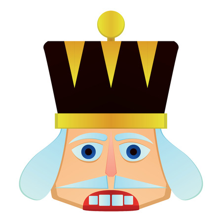 Isolated nutcracker soldier face on a white background, vector vector illustration