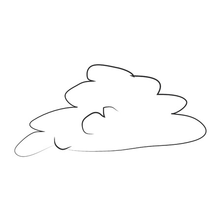 Isolated hand draw sketch of a cloud on a white background, vector illustration