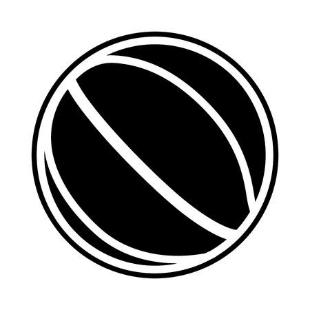 Basketball ball silhouette on a white backdrop, design.