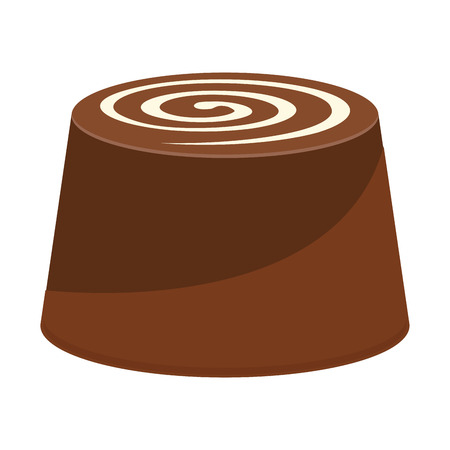 Isolated chocolate candy on a white background, vector illustration