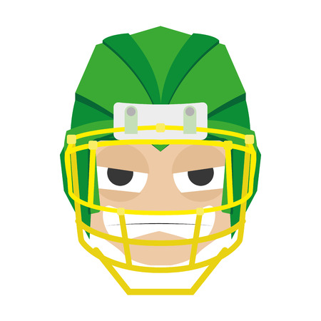 Isolated avatar of rugby player on a white background, vector illustration