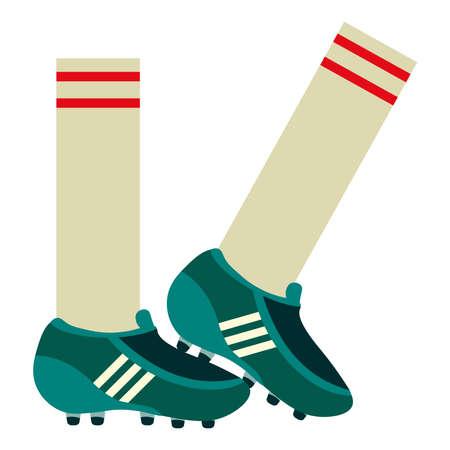 sox and football soccer bots logo cartoon icon- Vector