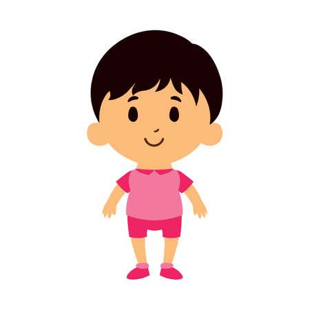 Isolated Cartoon Kid Character european boy - Vector
