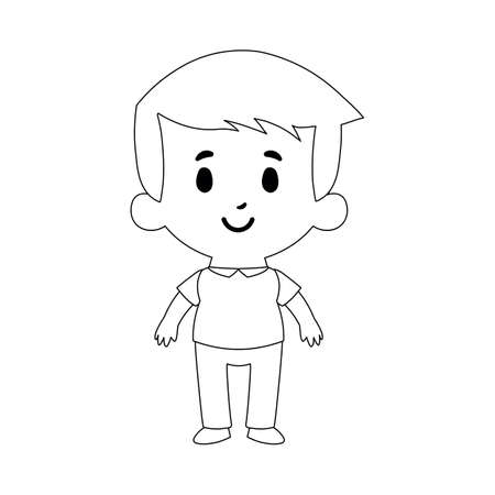 Isolated Cartoon Kid Character latin draw boy - Vector