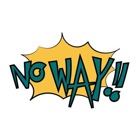 Isolated No Way Comics vignettes Icon - Vector