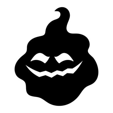 Isolated phantom halloween holiday cartoon icon - Vector