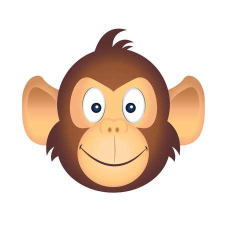 Cartoon of a cute monkey emoji - Vector
