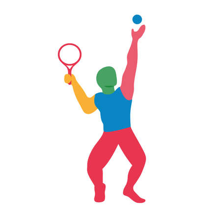Isolated tennis sport games icon - Vector