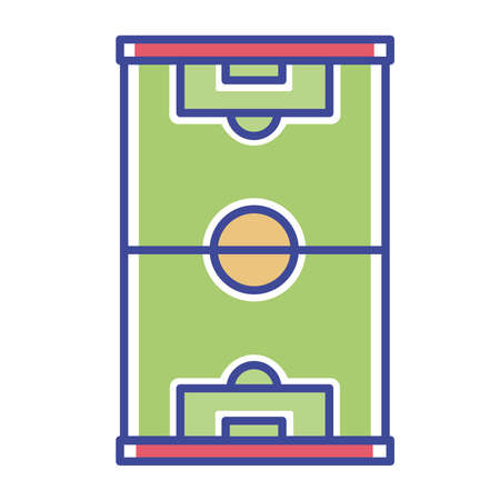Isolated field goal soccer elemnts icon- Vector