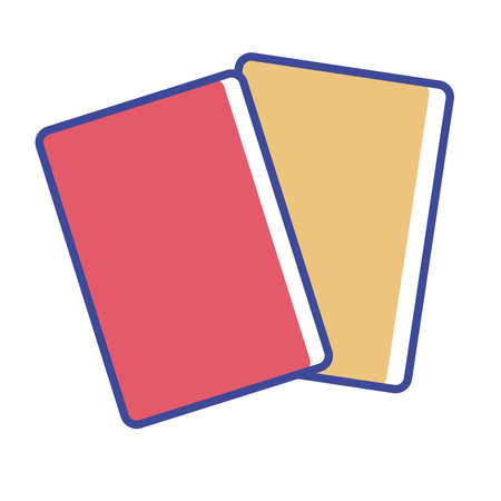 Isolated red and yellow cards soccer elemnts icon- Vector