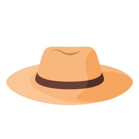 Isolated hat beach summer holiday icon- Vector Ilustración de vector