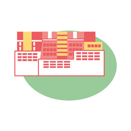 Isolated city asian typical culture places icon- Vector