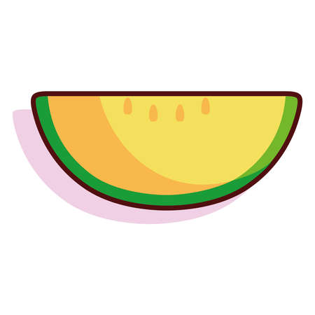 Isolated apple exotic fruit tropical diet icon- Vector