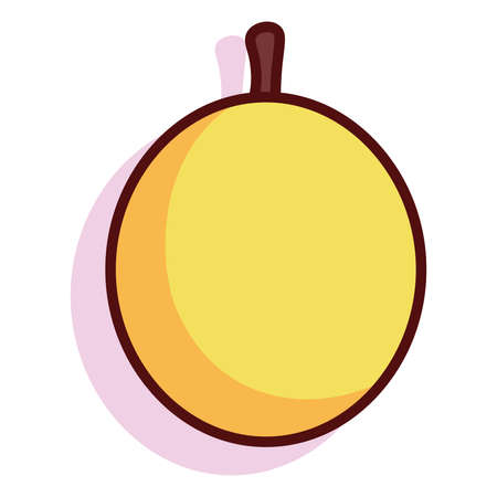 Isolated passion exotic fruit tropical diet icon- Vector