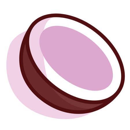 Isolated coconut exotic fruit tropical diet icon- Vector Illusztráció