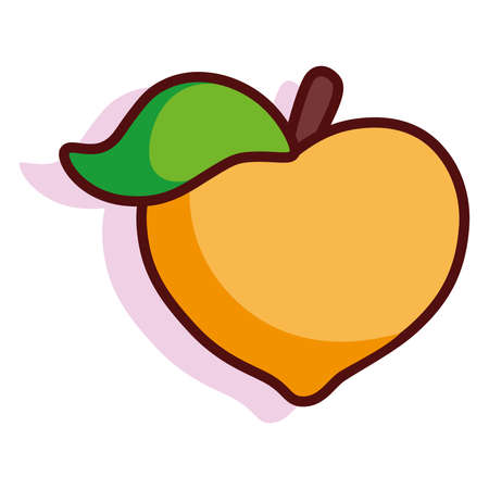 Isolated mango fruit tropical diet icon- Vector