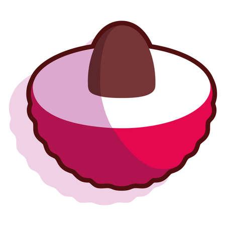 Isolated exotic fruit tropical diet icon- Vector Illusztráció