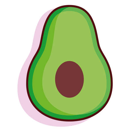 Isolated avocado fruit tropical diet icon- Vector