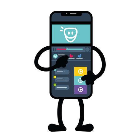 Isolated notes app smartphone emotion emoji icon- Vector