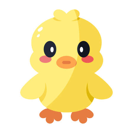 Isolated duckling icon. Nativity icon - Vector illustration